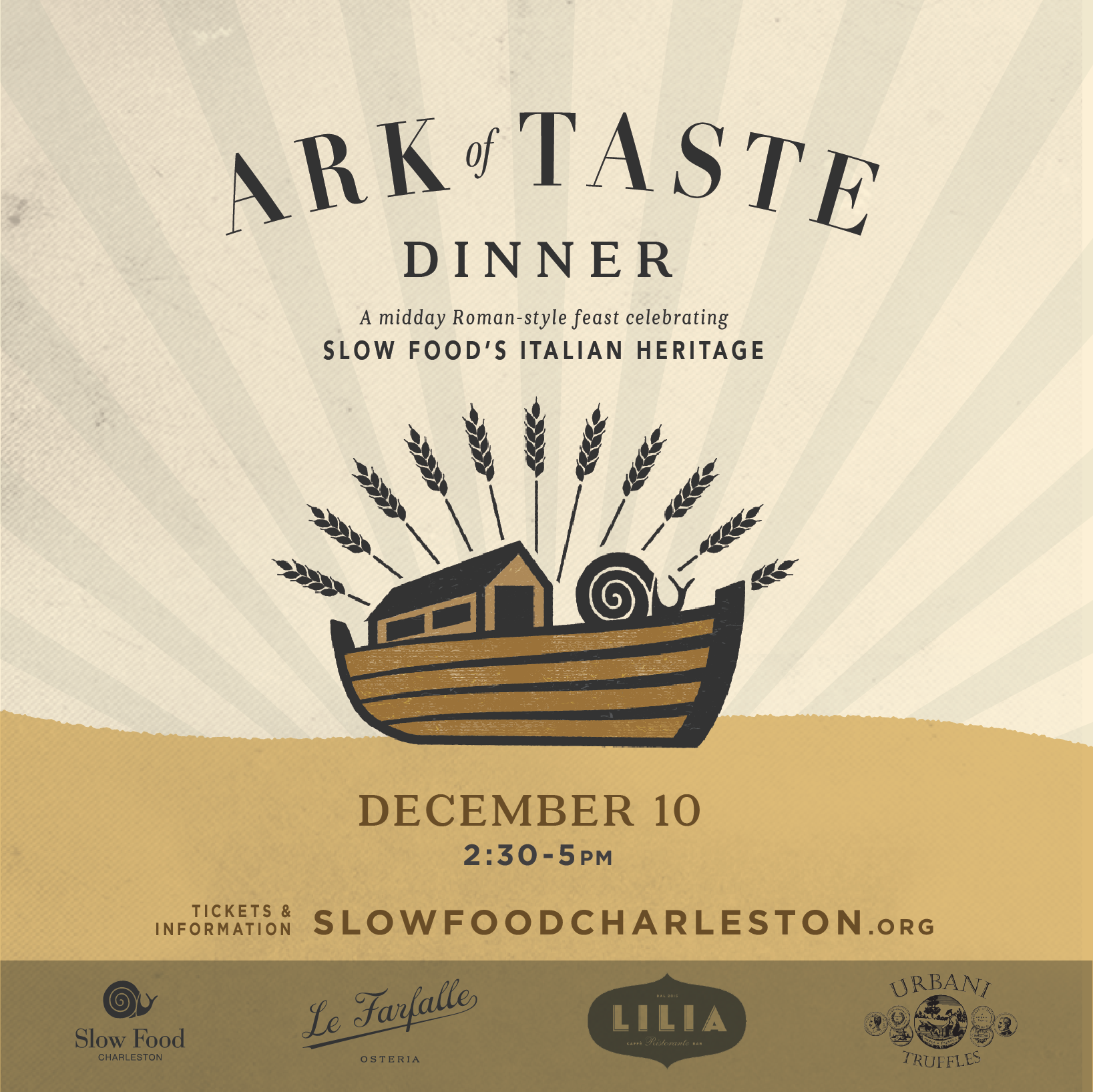 Slow Food Charleston Ark of Taste Dinner 2017